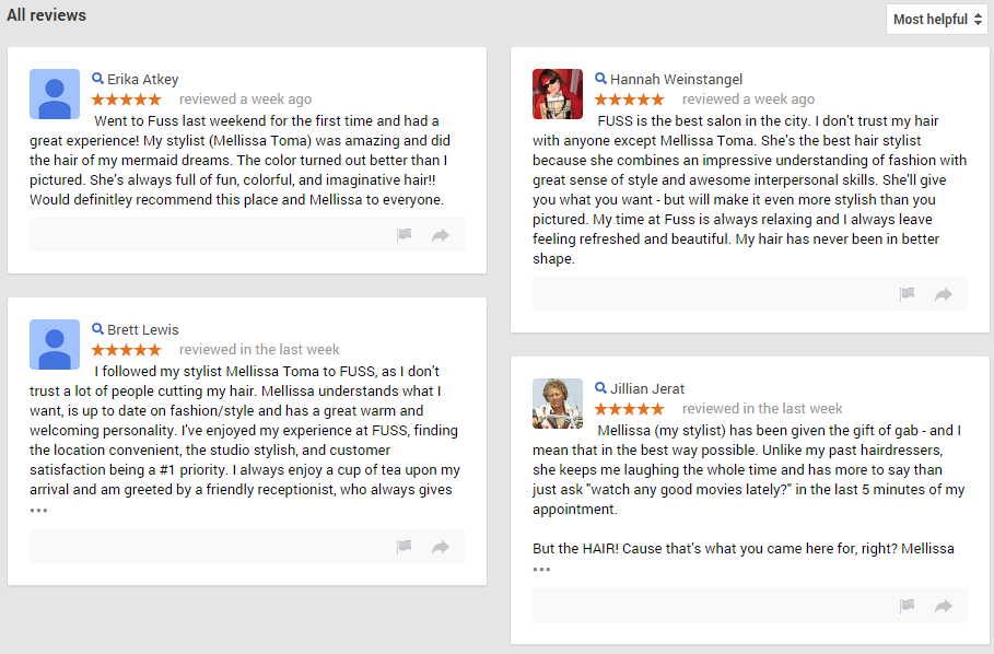 Reviews for Fuss Art of Hair