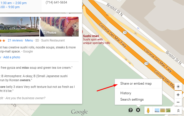 Find the map settings area in Google Maps