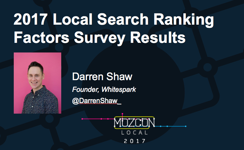 Sneak Peek at 2017 Local Search Ranking Factors Results
